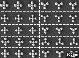 DCN Corp - Electron microscope images of two different plasmonic structures that researchers can deconstruct into sub-units to determine optical properties.  Credit - © 2012 American Chemical Society