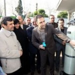 DCN Corp® - Iranian President Dr Mahmoud Ahmadinejad - unveiled 'the system for purification of garbage sewage and special waste-water by using nanotechnology' in Nanotechnology Research Center of Babol Noshirvani University of Technology. Research undertaken in northern city of Babol.  Credit - Iranian Nanotechnology Initiative Council (INIC), Tehran, Iran