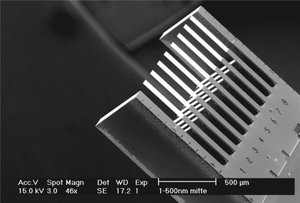 DCN Corp® - Nano sensor, eight cantilevers of 500 μm in length are applied for detection of the genetic mutation. Credit - University of Basel (UoB), Switzerland