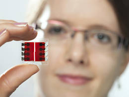 DCN Corp® - Ultra thin coating: Organic sensors can be applied on to Complementary Metal Oxide Semiconductors (CMOS) chips over large and small surfaces as well as to glass and/or flexible plastic films. Credit - Technische Universität München (TUM), Germany